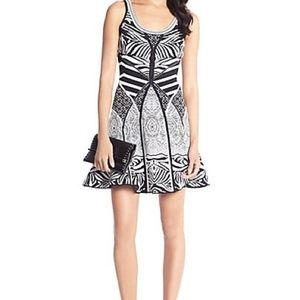 DVF Fanny Zebra Knit Fit and Flare Dress 8